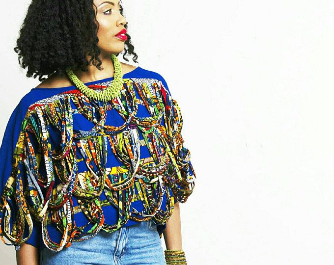 Yellow blue green crop top African print Women summer tops ankara cropped tank loose top in yellow mix