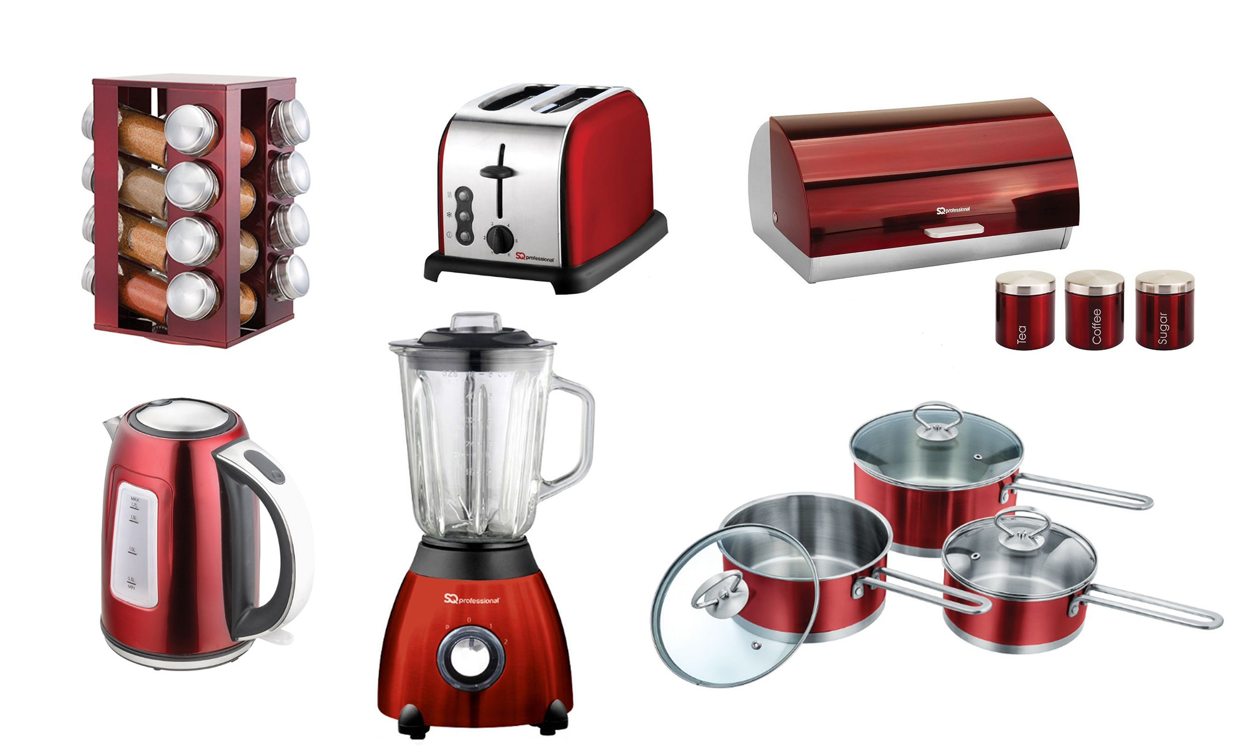 Red Kitchen Appliances Sets