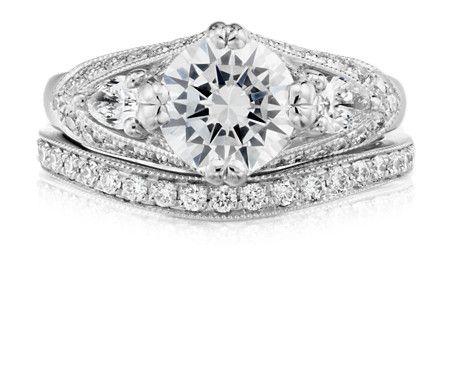Zac Posen Truly Zac Posen Milgrain Curved Diamond Ring in 14k White Gold (1/4 ct. tw.) UWcE6V
