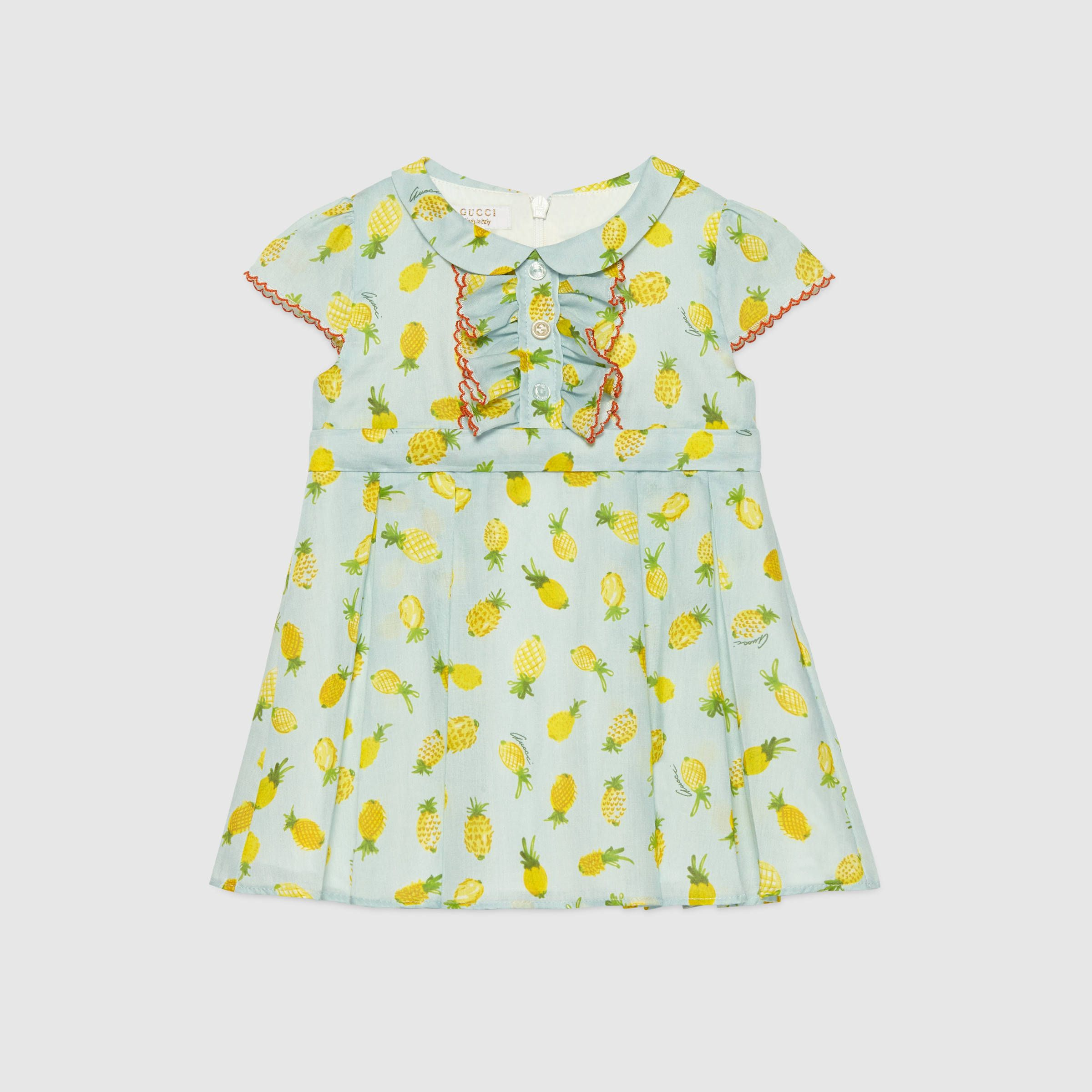 Gucci Baby pineapple print cotton dress Things I love