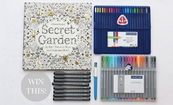 Secret Garden Pens And Pencils