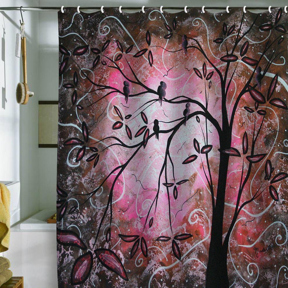 Madart Inc. Cherry Blossoms Shower Curtain