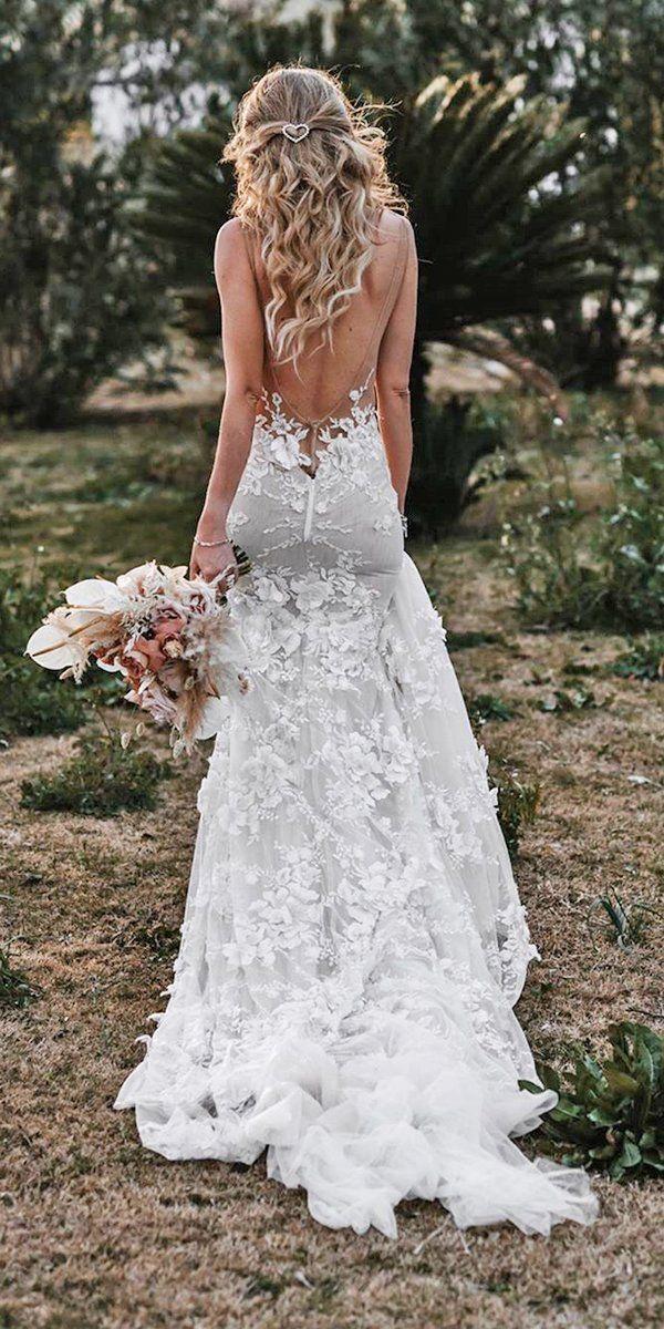 27 Chic Bridal Dresses: Styles & Silhouettes ❤  bridal dresses sheath backless with train tali photography #weddingforward #wedding #bride