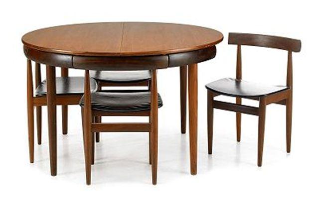 Good Danish Dining Set (Dining Table/Chairs) Hans Olsen For Frem Rojle