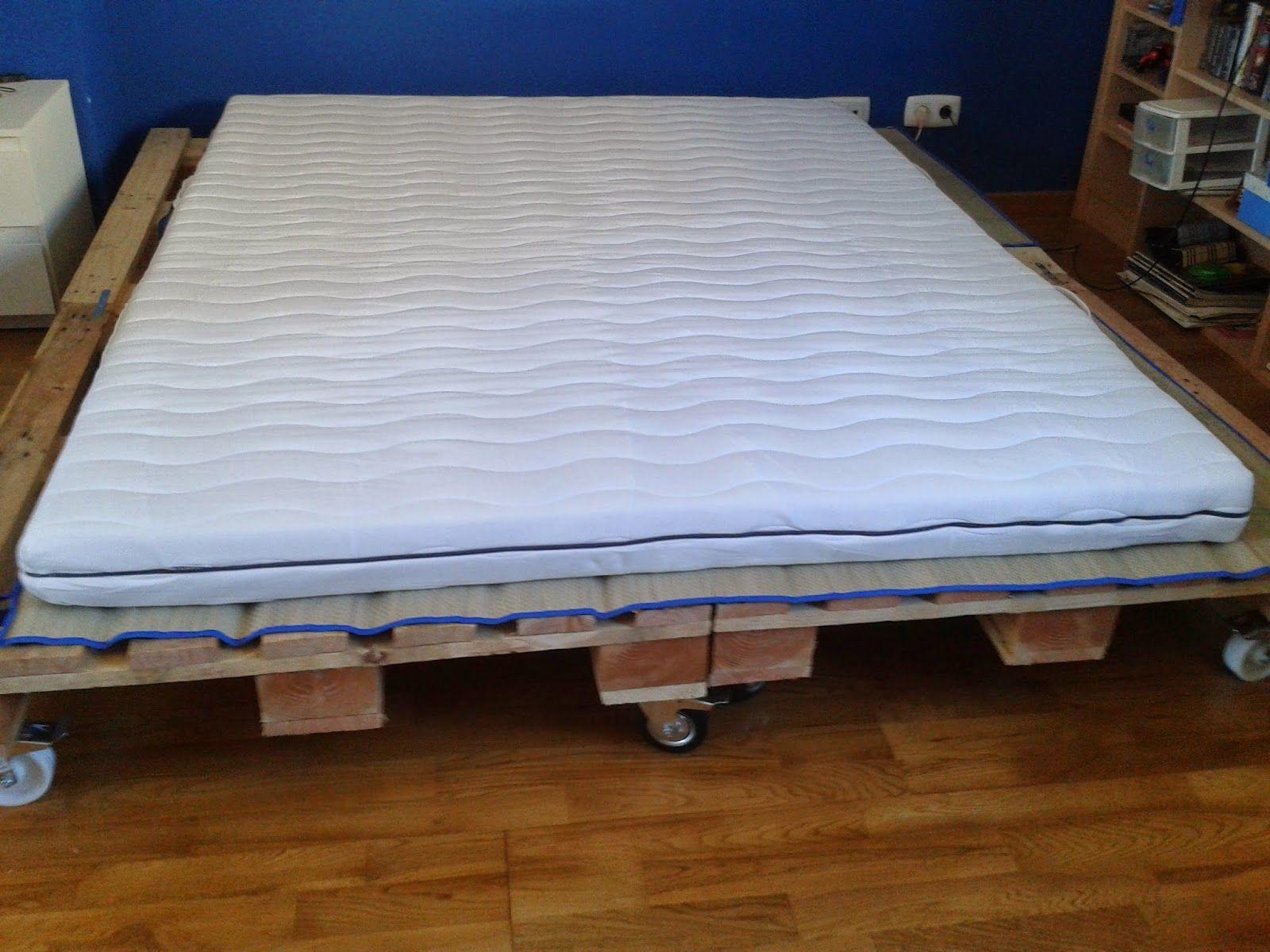 Taller de restauraci n lila diy cama de palets ideias for Tarimas de madera para cama