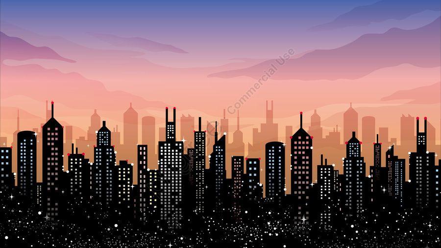 Illustration Landscape City Building City Building High Rise Building The View Of The City Illustration Image On Pngtree Free Download On 조경 도시 일러스트레이션 배경