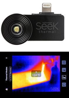 An Affordable Thermal Imaging Camera That Plugs Into Your Smartphone Thermal Imaging Camera Thermal Imaging Cool Tech Gadgets