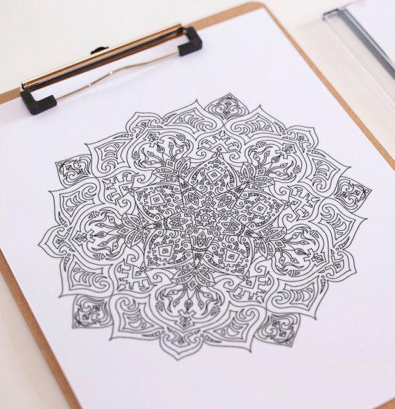 adult coloring page mandala ethnic 2 instant download by etnikmana based in denpasar bali