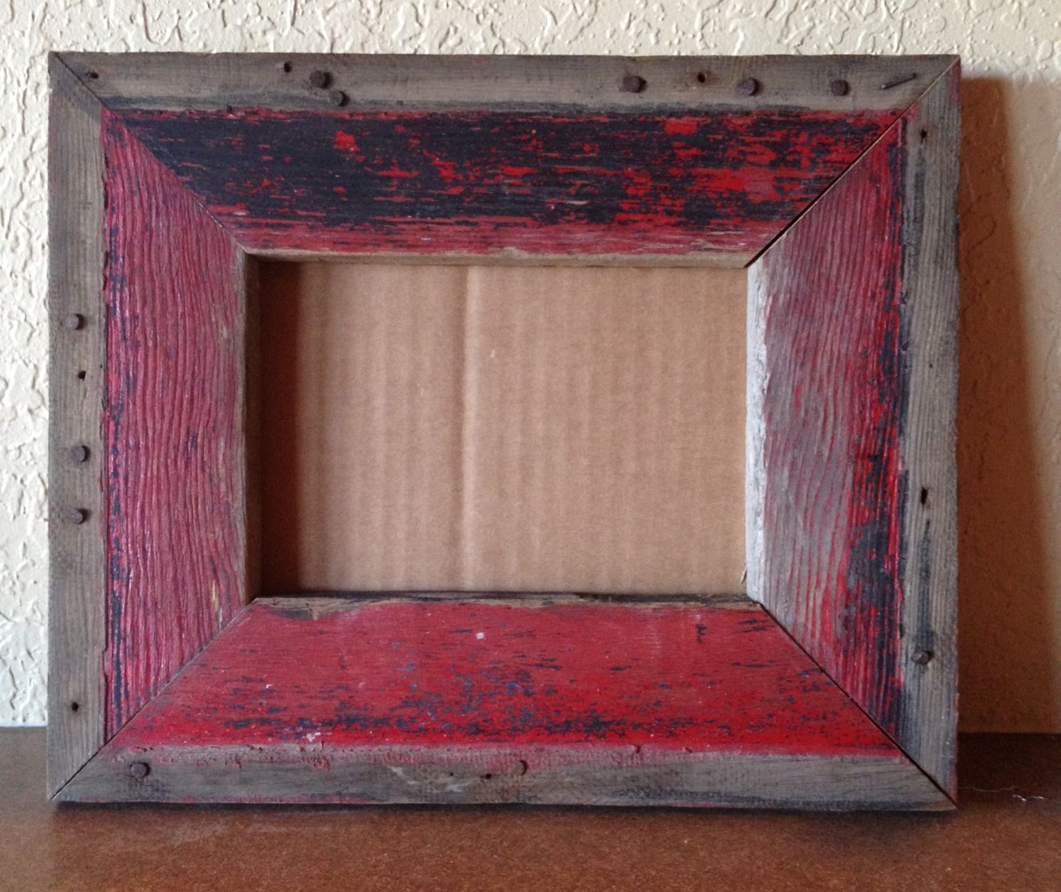 5x7 Barn Wood picture frame | PAPA BEAR WOODWORKS | Pinterest