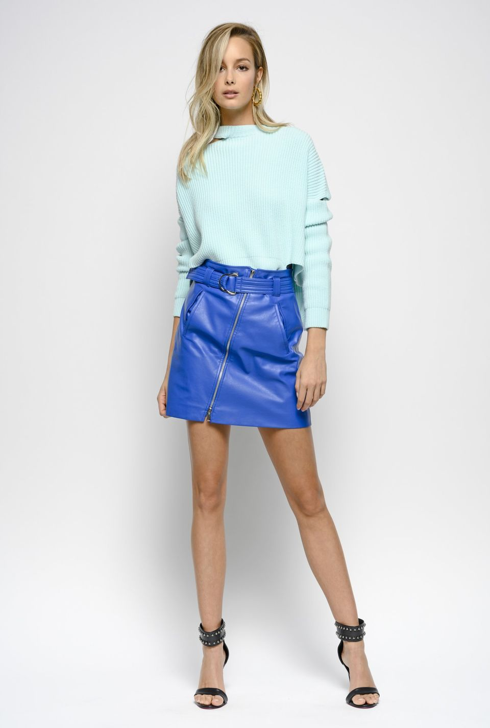 cdd5eb8016 Coloured leather-effect mini skirt PINKO - Shop online | Monica in ...