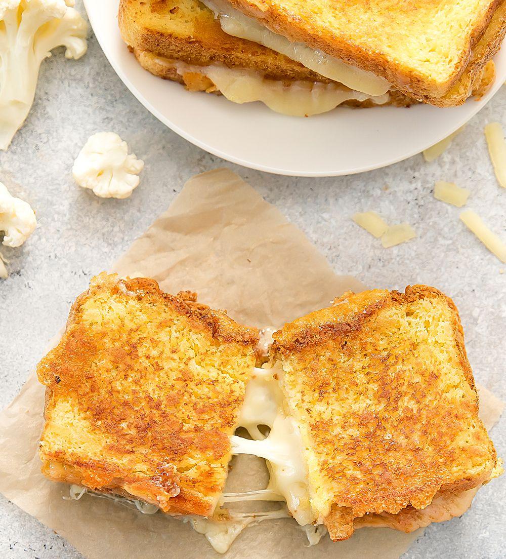 Cauliflower Grilled Cheese Sandwiches Recipe Delicious