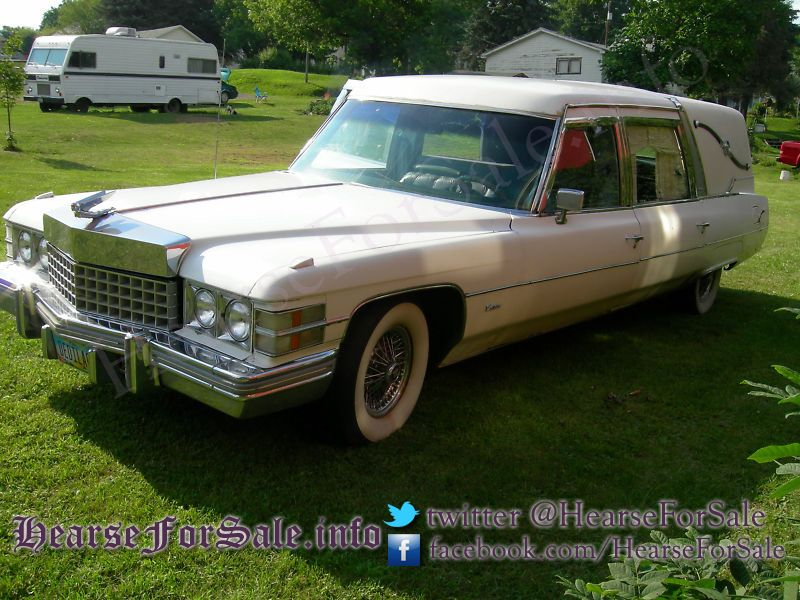 1974 Cadillac Hearse Superior Crown Sovereign front | Cool