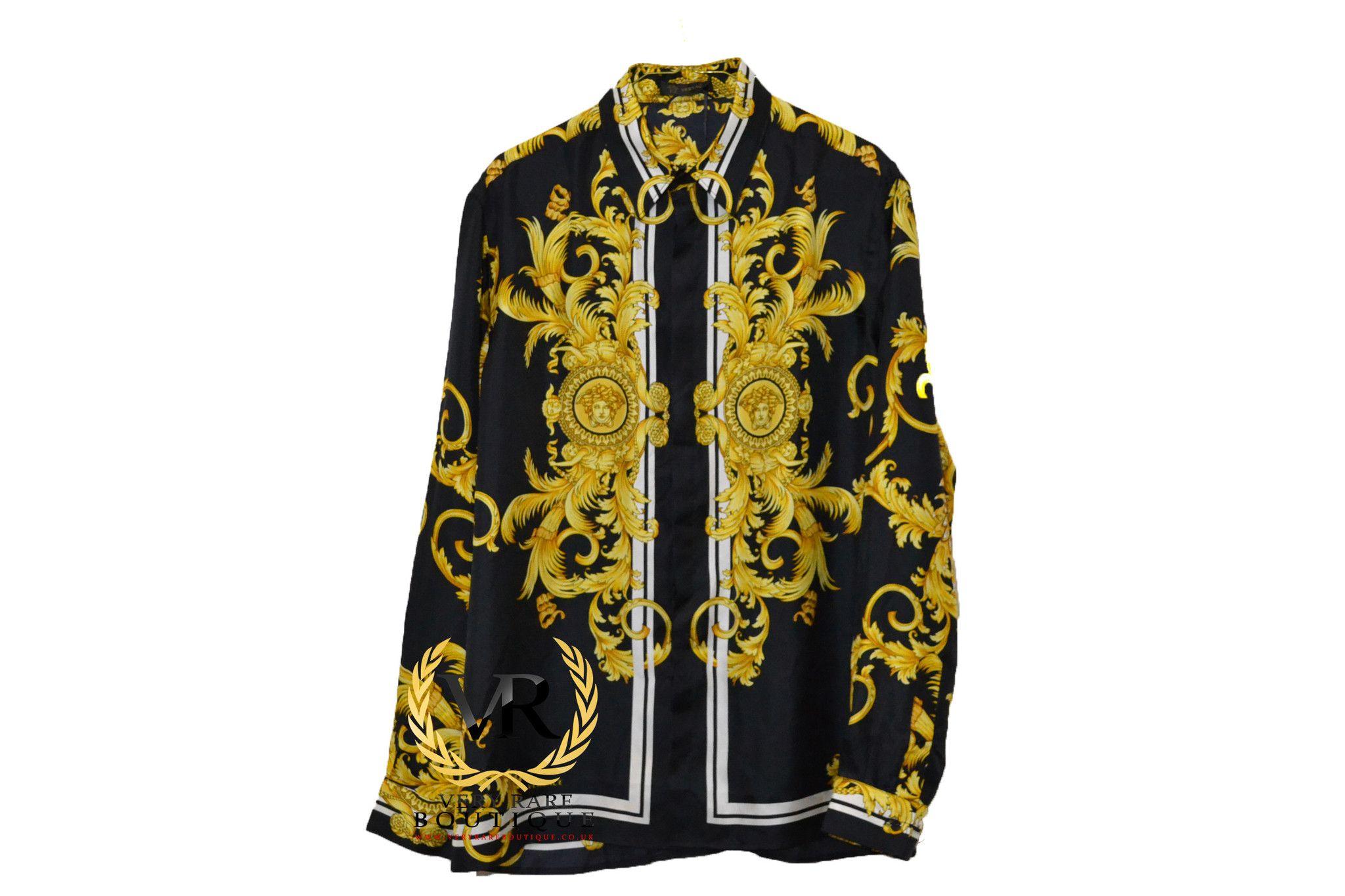 VERSACE, BAROQUE BUTTON-UP SHIRT (Black)   Streetwear and High ... 66e0e536b88
