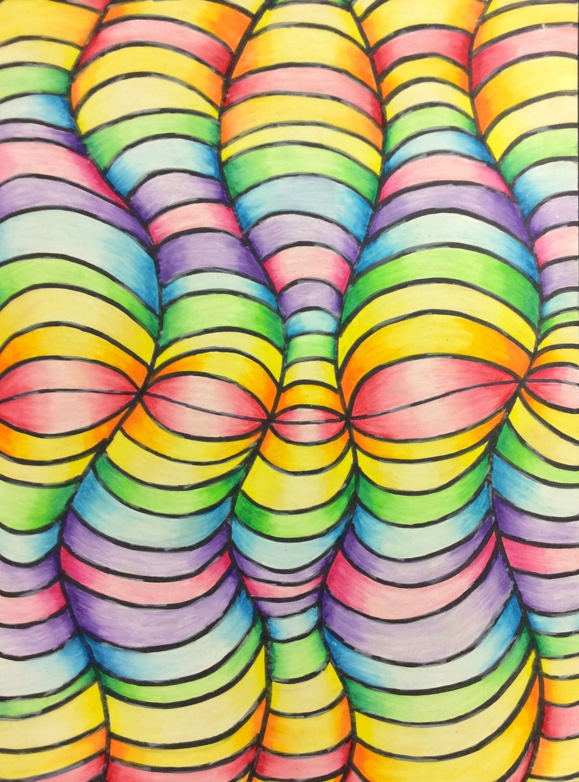 Op Art And Colored Pencil Tutorial