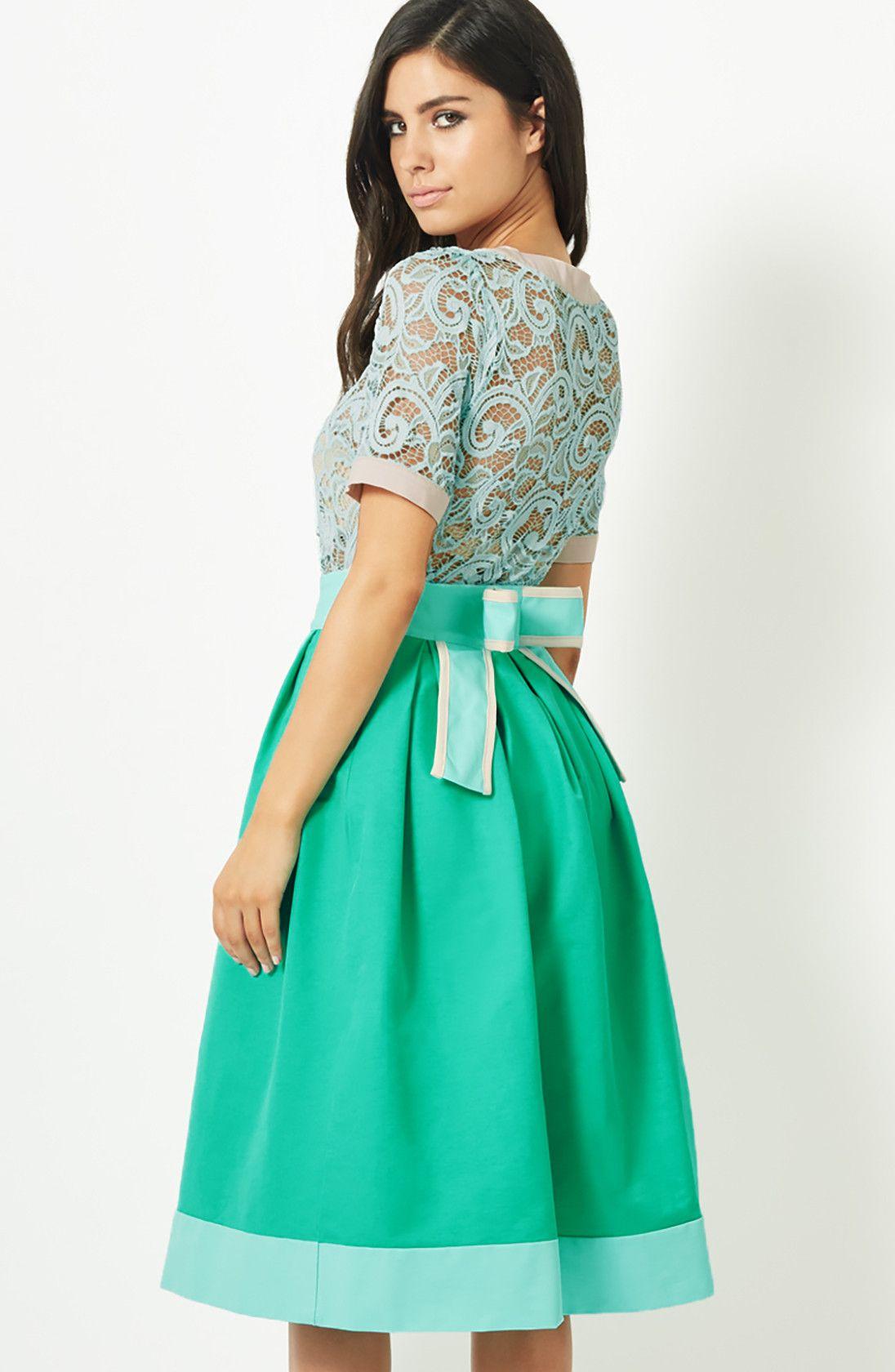 Vesper Lolita Peacock Bow Detail Full Skirt | wedding guest ...