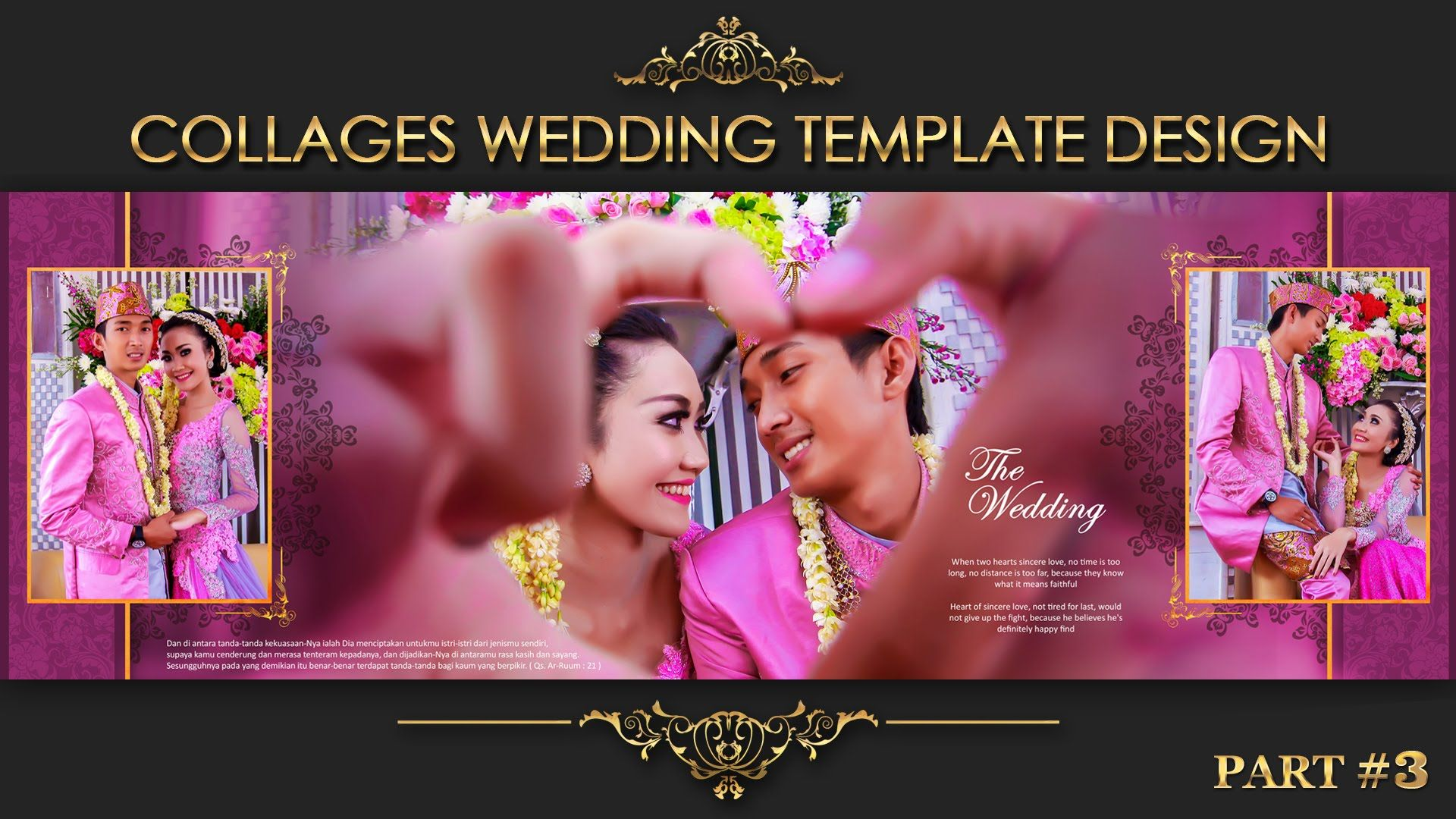 collage wedding album 3 for psd template view in description text