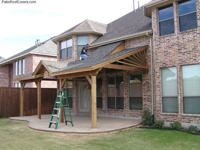 Covered patio roof ideas ideas for for Porch roof plans