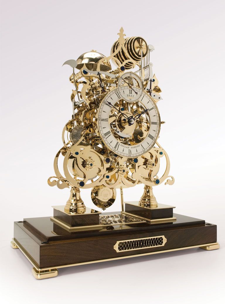 A picture of  a skeleton clock to better elaborate How does an Analog Clock work?
