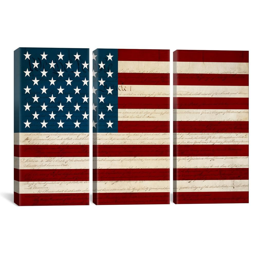 "iCanvas """"USA Flag (U.S. Constitution Background)""""by"