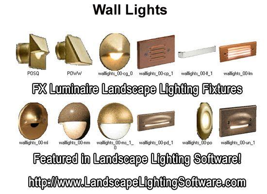 FX Luminaire Wall Lights Featured In Landscape Lighting Design Software.