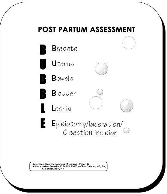 BUBBLE = Post Partum