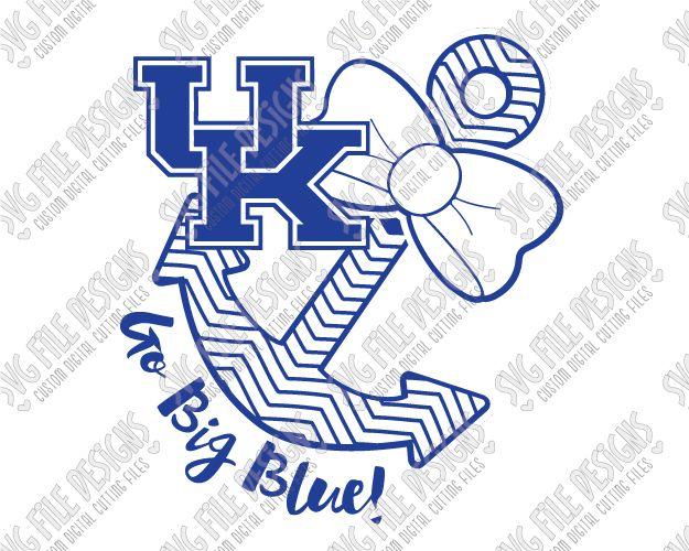 Go Big Blue University Of Kentucky Wildcats Chevron Anchor