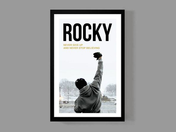 Rocky Movie Poster - Inspirational Quote Print ...