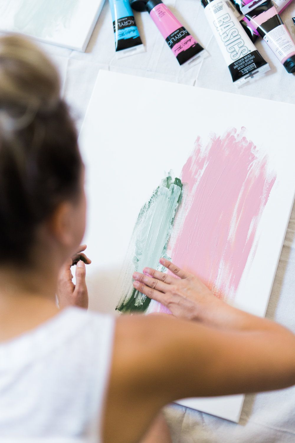 How To Host A Girls Night In Painting Party Project Inspirations
