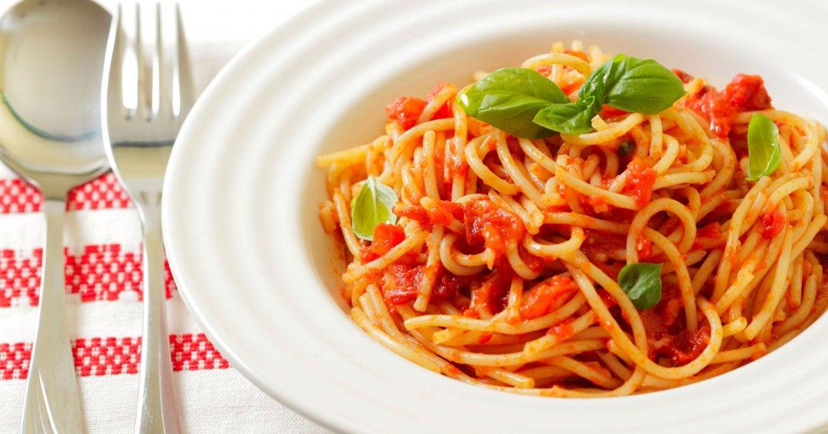 Espagueti vegetariano - EligeVeg.com