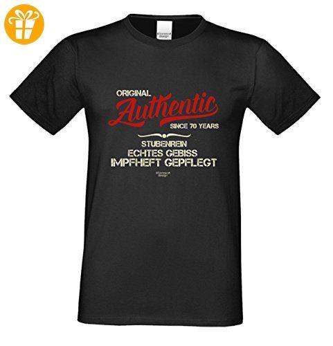 Geschenk-Set : T-Shirt & Urkunde : Authentic Since 70 Years : Für