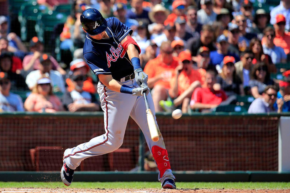 Austin Riley Slays The Giants Again As Braves Win 5 4 Atlanta Braves Braves Madison Bumgarner