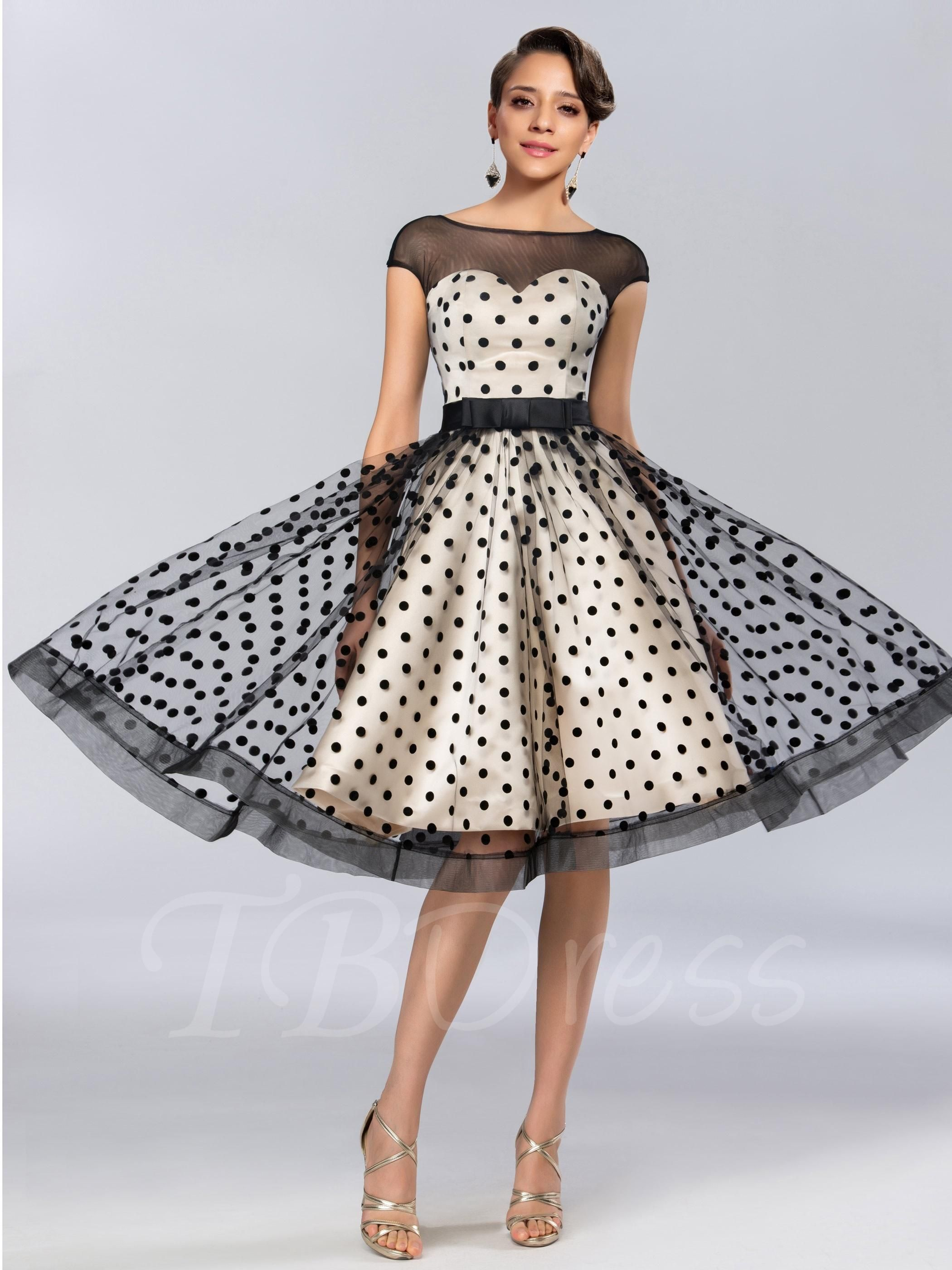 Tbdress tbdress aline bateau neck zipperup kneelength prom