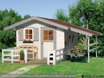 Chalet de jardin en bois brut, de 49 m² Modèle  Garmisch 1 - rendre une terrasse etanche