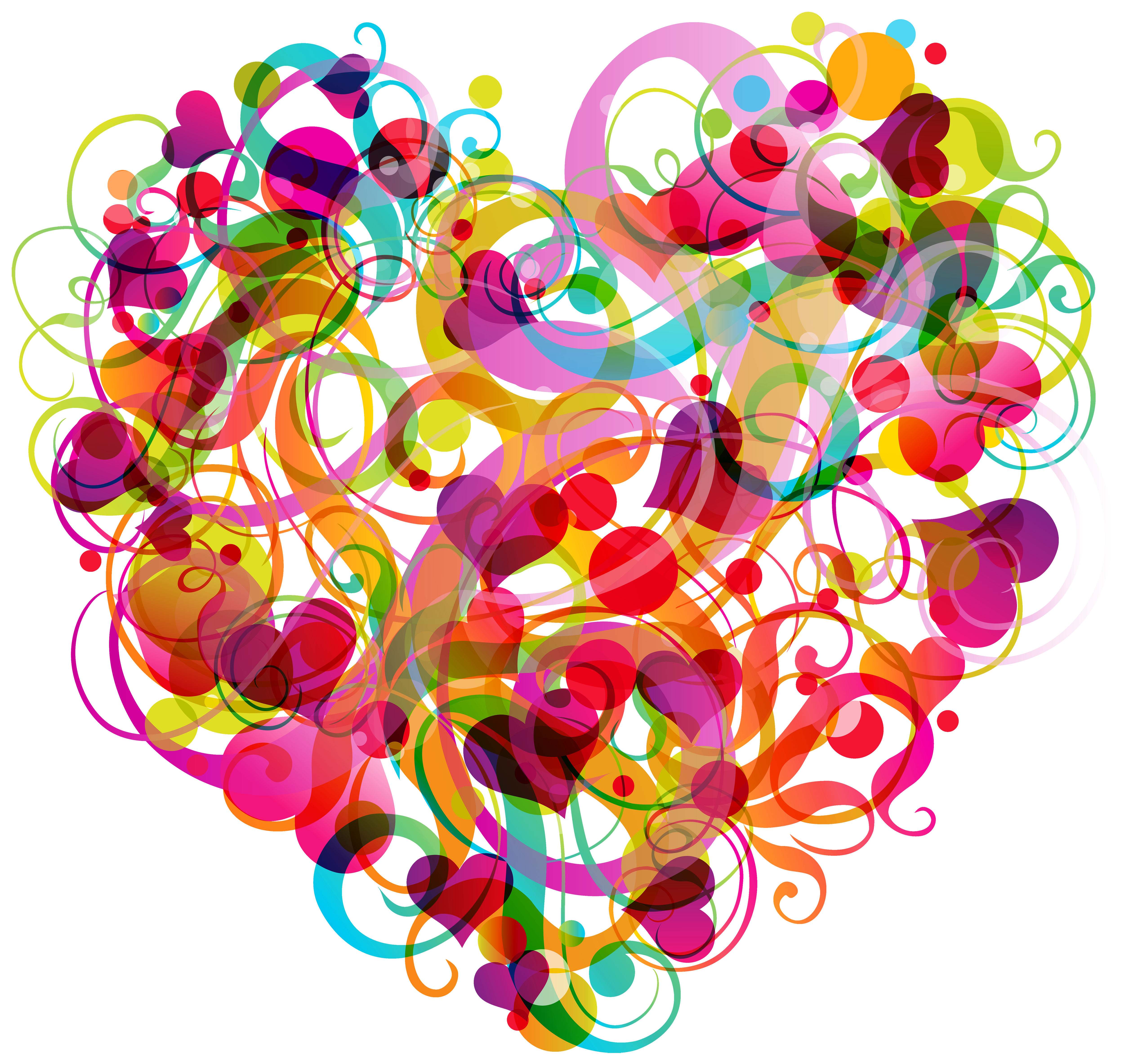 Abstract Colorful Heart PNG Clipart Best WEB