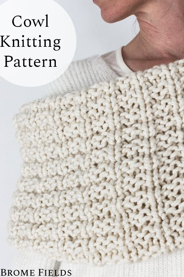 This is an easy beginner cowl knitting pattern that's knit ...