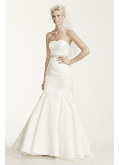 5ccaa51e2483 Long Mermaid/ Trumpet Simple Wedding Dress - David's Bridal Collection