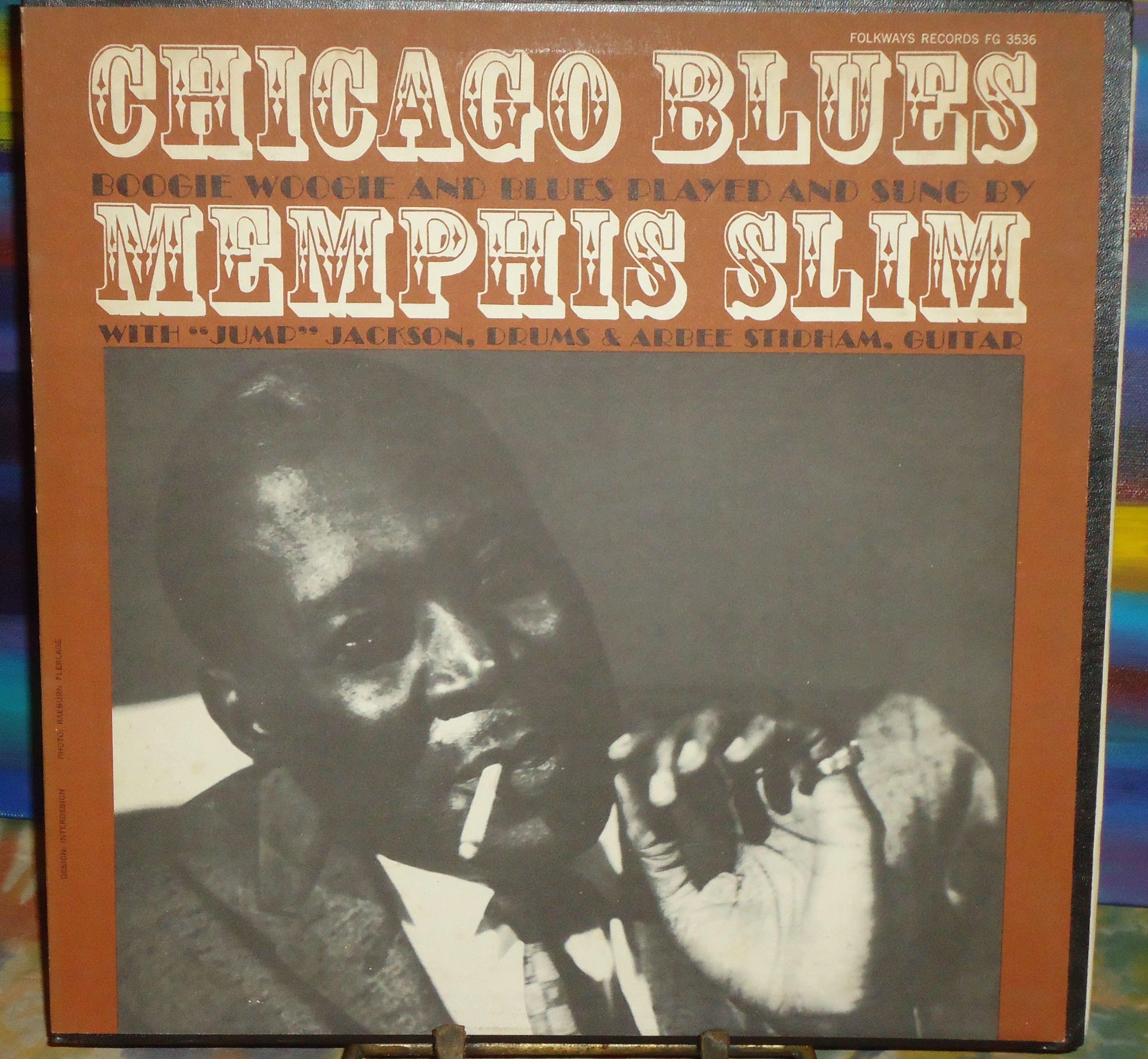 Memphis Slim Chicago Blues Folkways Vinyl Lp 1961