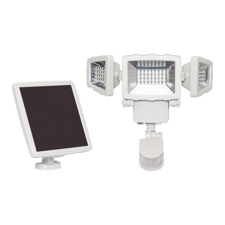 Westinghouse 2000 Lumen Triple Head Solar Security Light Motion Activated White Solar Security Light Solar Flood Lights Security Lights
