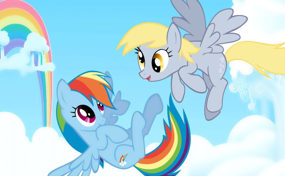 Rainbow Dash And Derpy Hooves HD Wallpaper