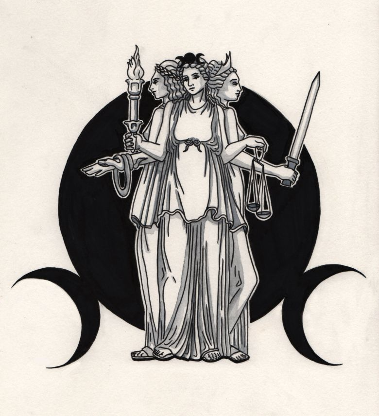 Hecate At Triple Goddess Tattoos Hekatehecate Pinterest