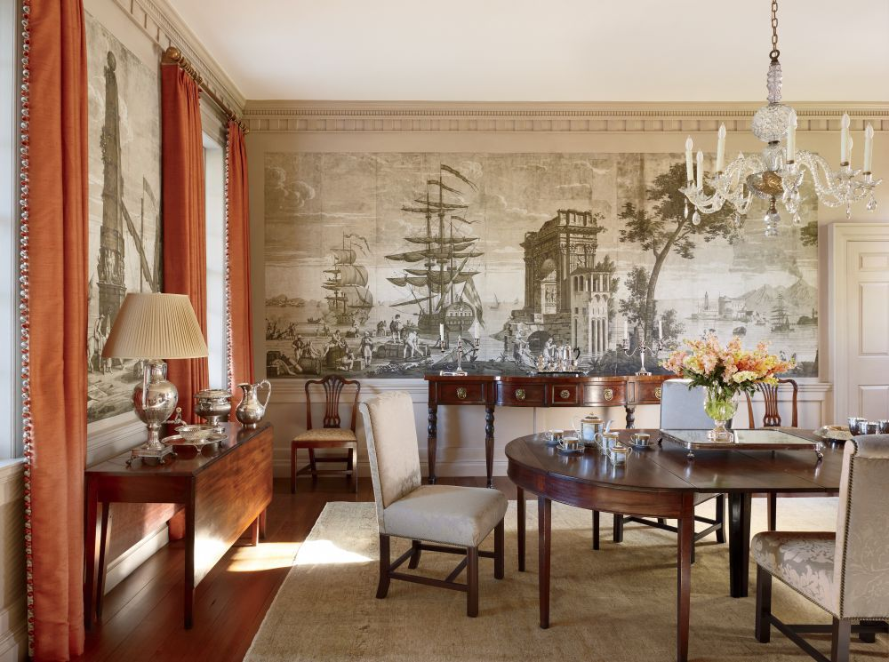 Traditional Dining Room by Amelia T. Handegan Inc. and Tidewater  Preservation Inc. in