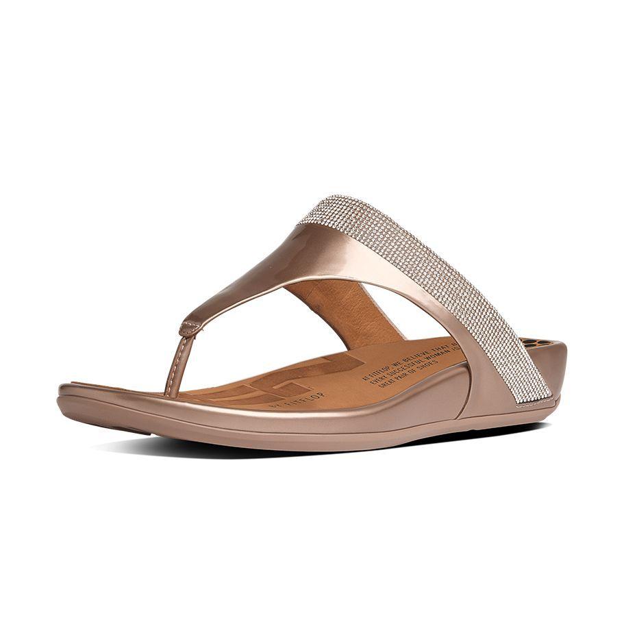 Fitflop Banda MicroCrystal ToePost Nude SS15 sandals summer