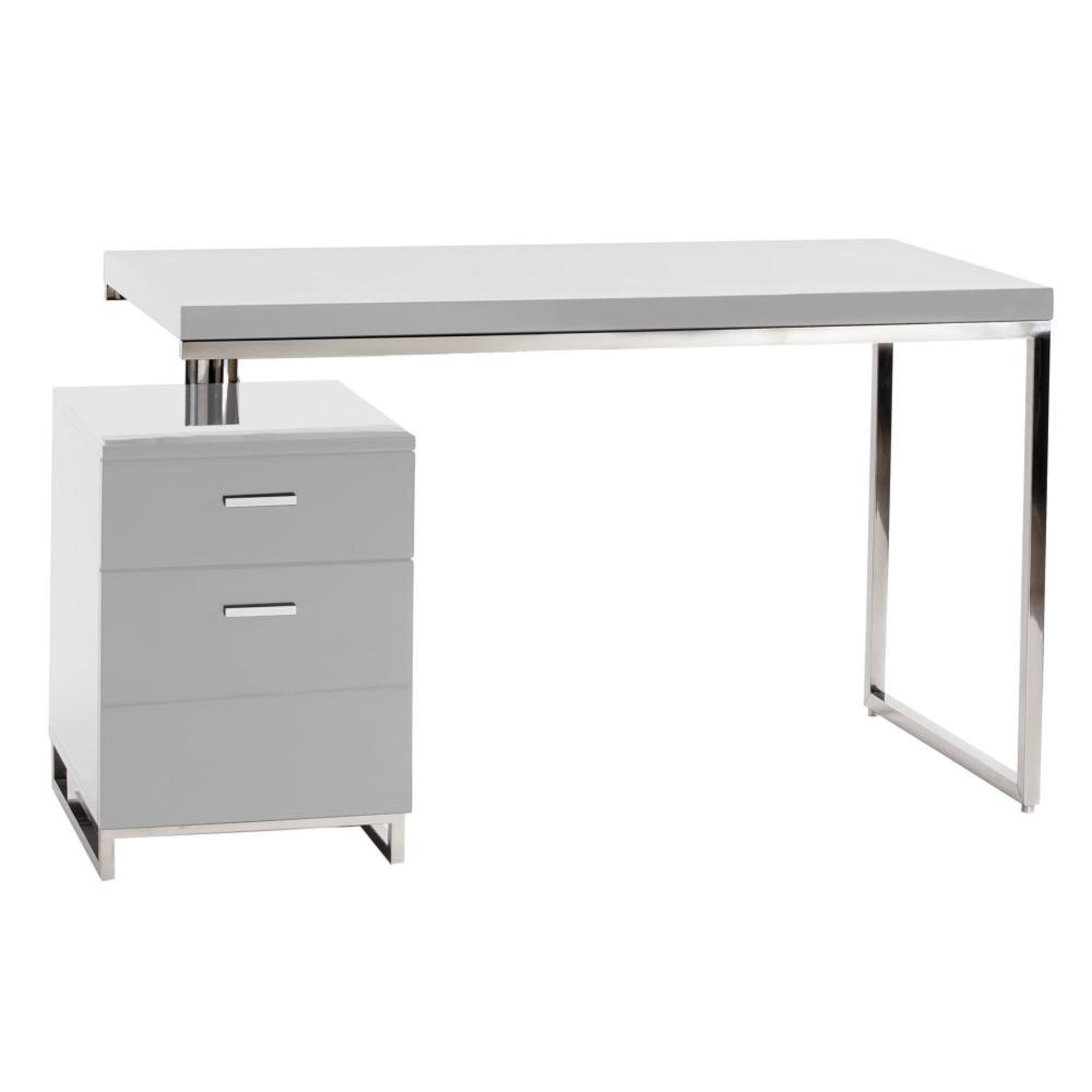 Contemporary Design Desk With Filing Cabinet Moe S Home Collection Desk Design White Desks White desk with file cabinets