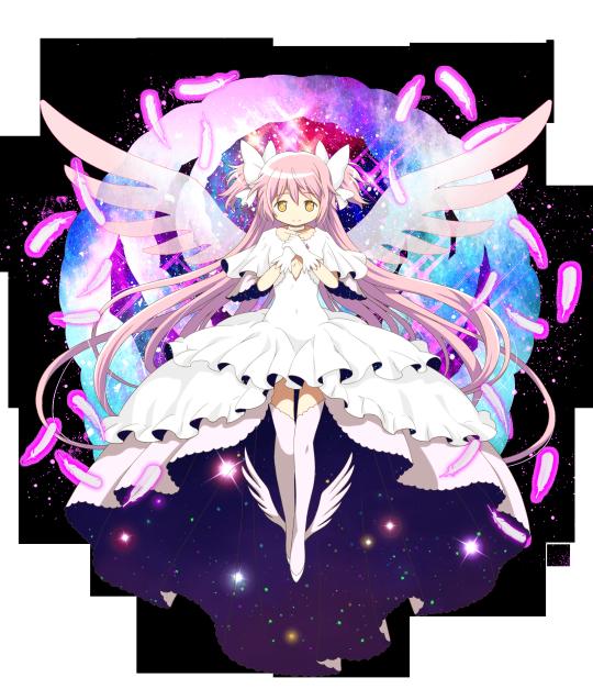 New Official Transparent Artwork Of Ultimate Madoka From The Puella Magi Madoka Magica Thousand Memories Crossov Anime Mahō Shōjo Madoka Magica Madoka Magica