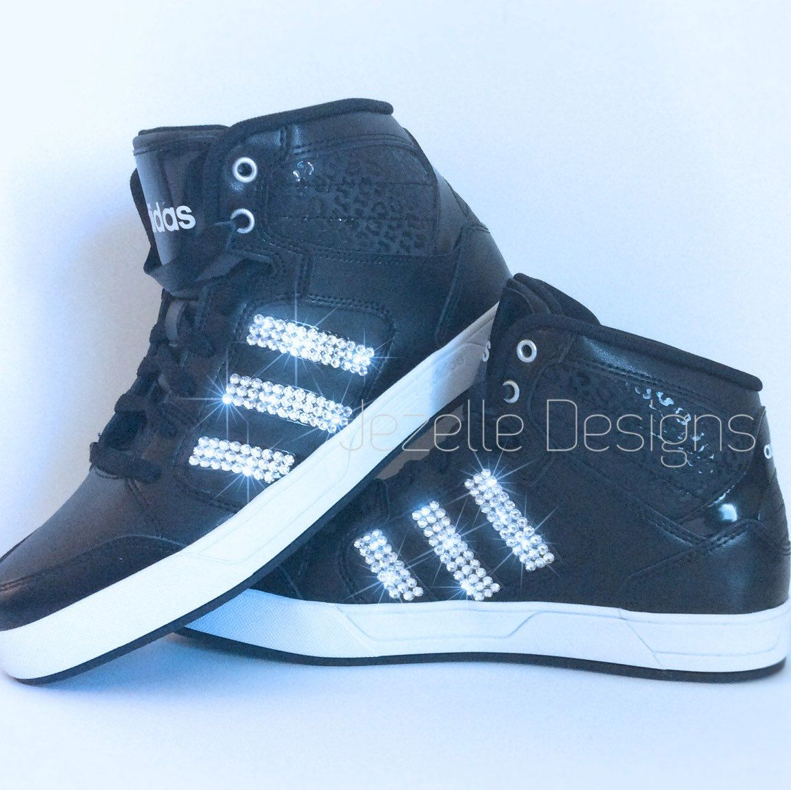 ... new arrivals 3a17d 34b51 Swarovski Crystal Adidas Shoes - Blinged Out  High Tops with SWAROVSKI® ... 6974cb1ce3