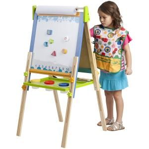 ECR4Kids 3-in-1 Premium Standing Adjustable Art Easel with Accessories for Kids