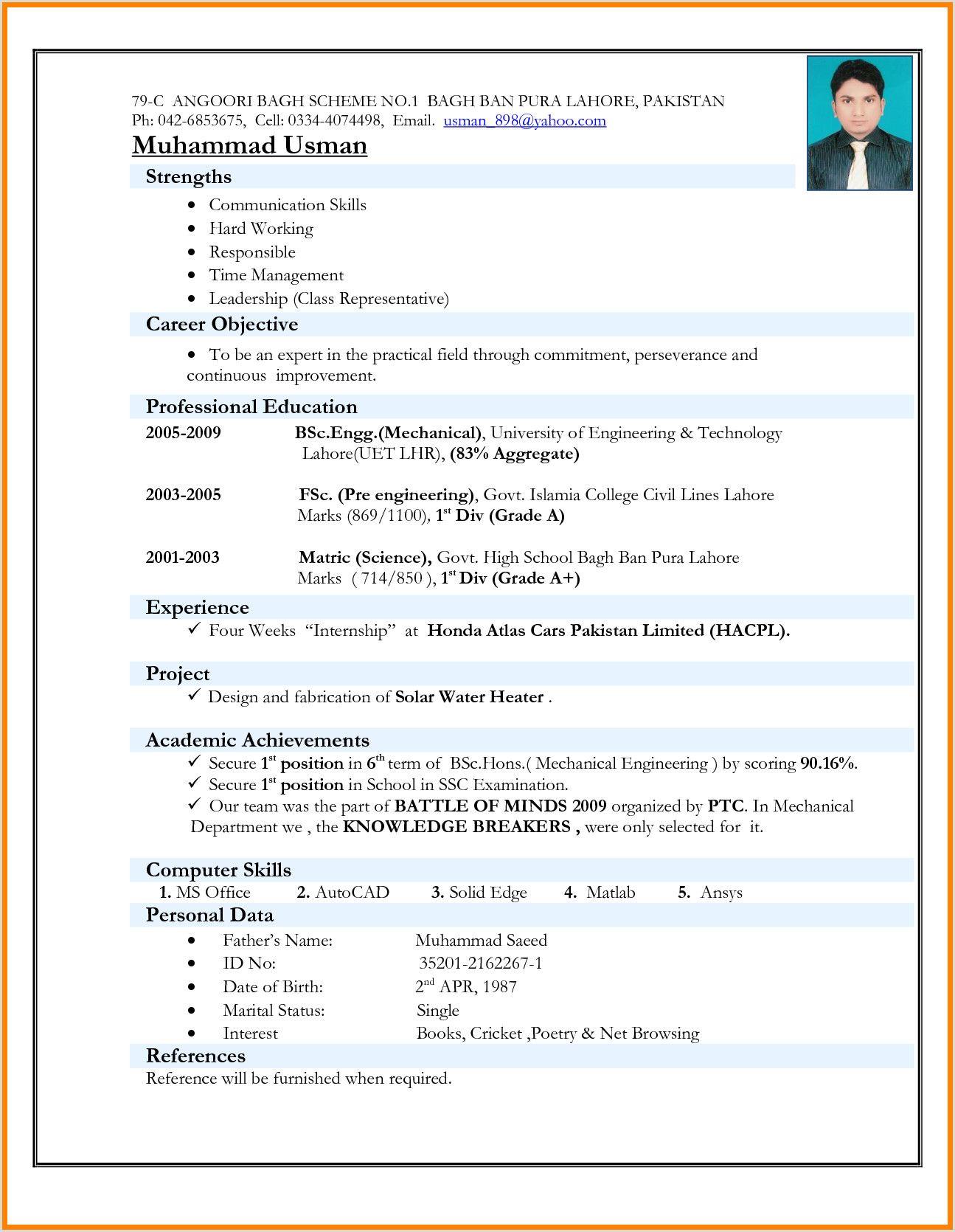 Curriculum Vitae Para Rellenar On Line Resume Format Download Sample Resume Format Best Resume Format