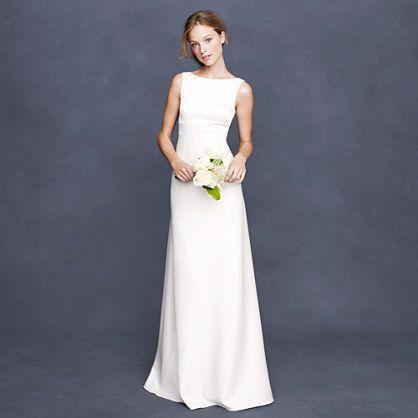 J Crew Percy Gown Casual Wedding Dress Formal Dresses For Weddings Size 12 Wedding Dress