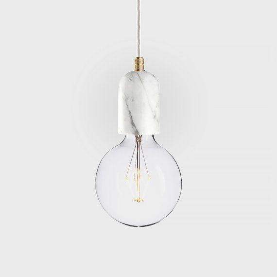 Marble pendant lamp | LATITUDE Bjort white