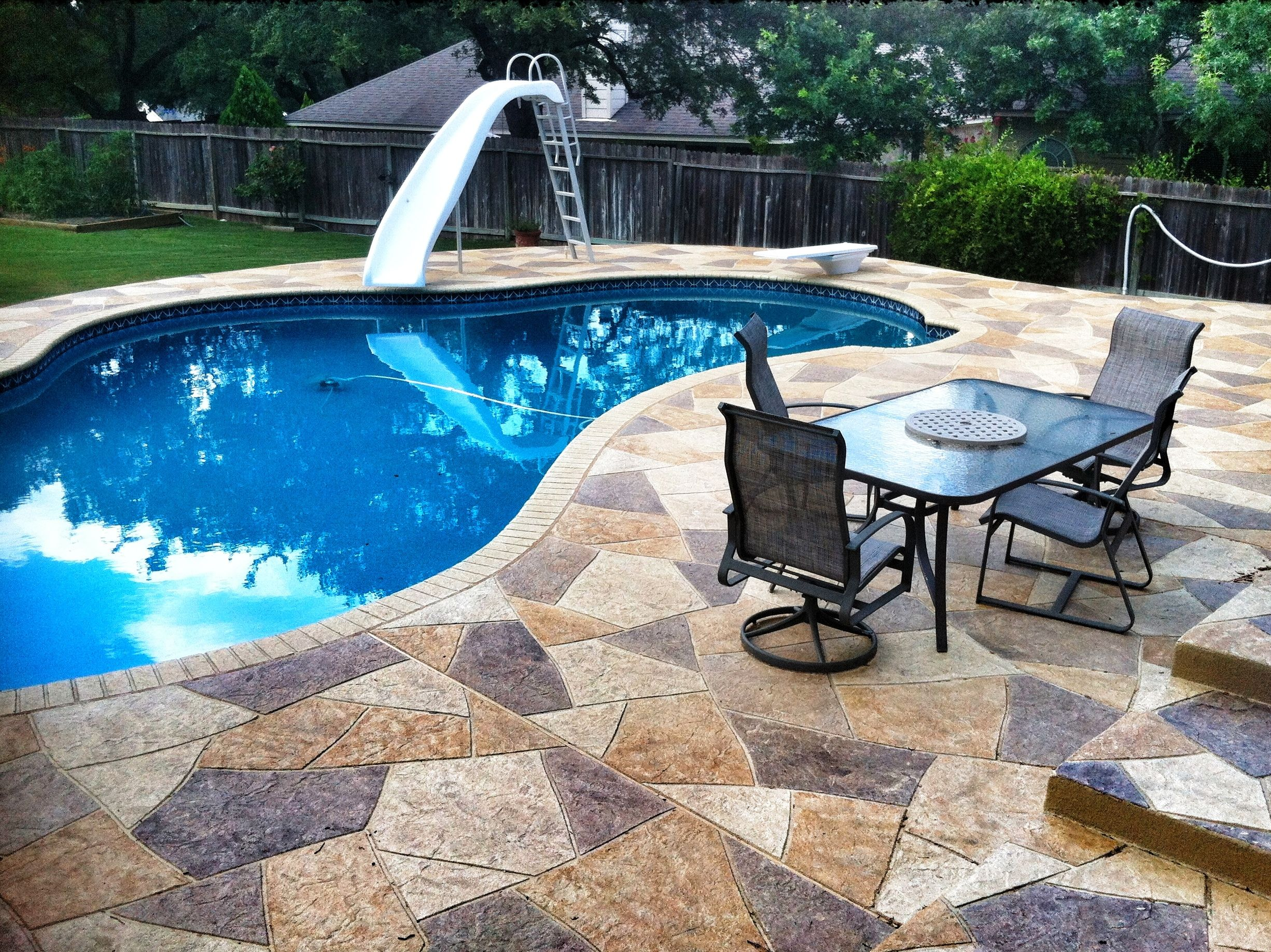 SunStamp By Sundek Decorative Concrete Specialists Is Such A Great Way To  Finish Out A Pool